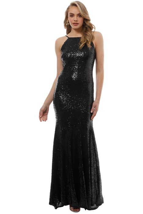 Theia - Jessica Gown - Black - Front
