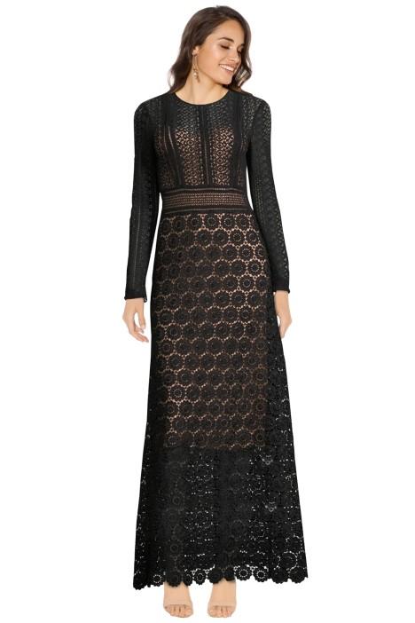 Theory - Rabella Maxi Dress - Black - Front