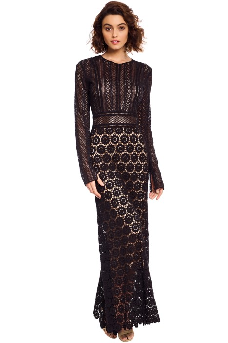 Theory - Rabella Maxi Dress - Black - Front