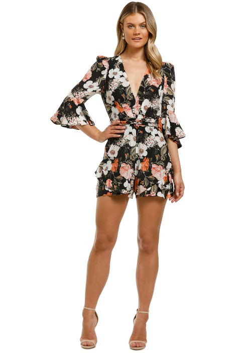 Thurley-Rendezvous-Playsuit-Eden-Floral-Bright-Black-Front