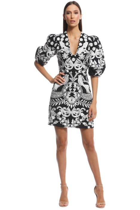 Thurley - Enchanted Garden Dress - Black - Front