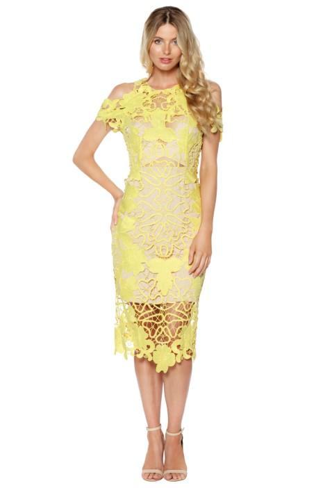 Thurley - Hollyhock Midi Dress - Yellow - Front