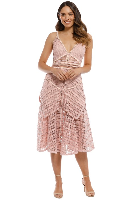 cd64abd0a206 Juliette Dress in Dusty Pink by Thurley for Rent