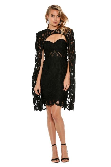 Thurley - Khalessi Cape Dress - Black - Front