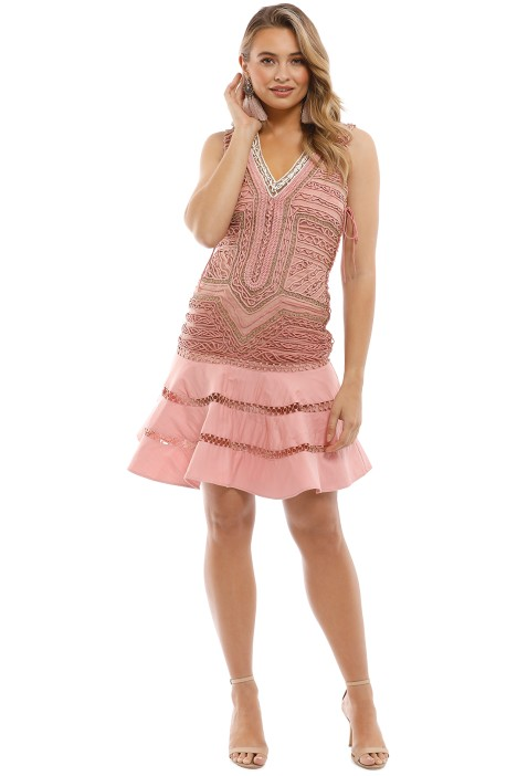 Thurley - La Rambla Mini Dress - Pink - Front