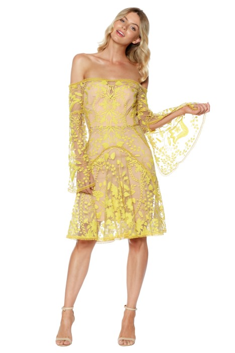 Thurley - Marigold Mini Dress - Yellow - Front