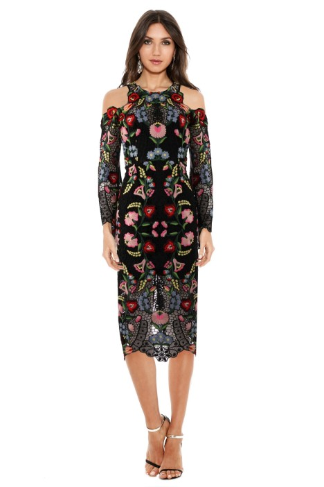 Thurley - Mexican Carnival Dress - Black - Front
