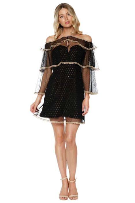 Thurley - Moondance Mini Dress - Black - Front