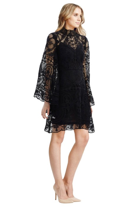 Thurley - Parisian Lace Dress - Black - Front
