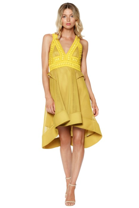 Thurley - Sahara Dress - Yellow - Front