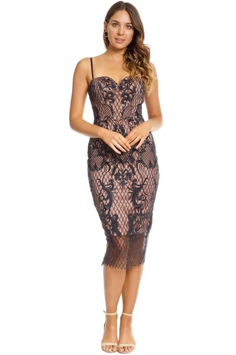 Tinaholy - Estrella Cocktail Dress - Black - Front