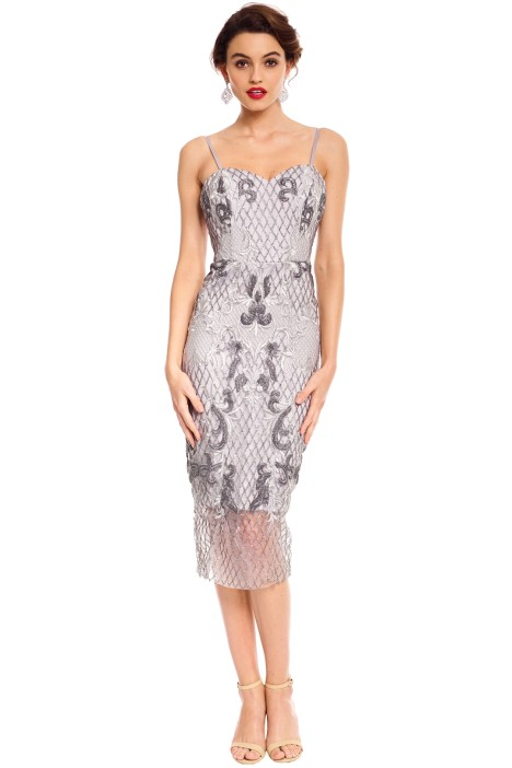 Estrella Cocktail Dress - Silver by Tinaholy for Hire