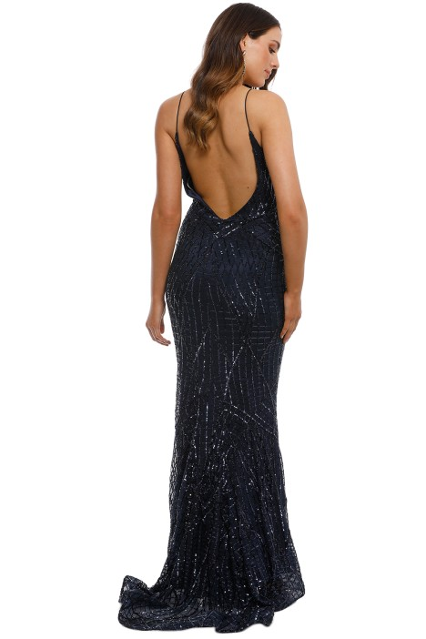 dfb3361c2112 Tinaholy - Tiffany Sequin Gown - Navy - Back