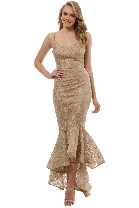 Tinaholy - Mateja Tulip Skirt Dress - Gold - Front