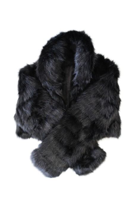 Tulip Bridal - Faux Fur Bolero - Black - Front 2