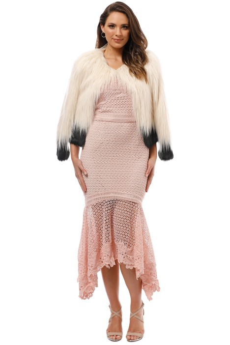 Unreal Fur - Fire and Ice Jacket - Ivory - Front