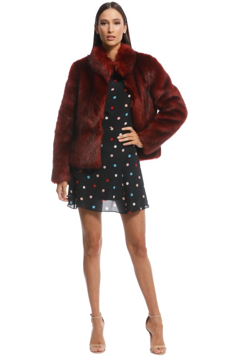 Jacket Lush Fur Delish Fur Delish Rust TF1K3uJ5lc