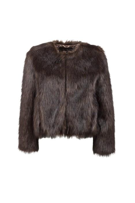 Unreal Fur - Unreal Dream Jacket Chocolate - Front