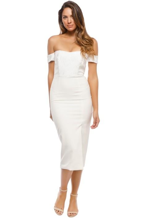 Unspoken - Bonnet Short Dress - Ivory - Front