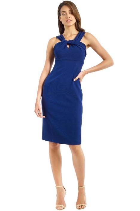 Unspoken - Knot Knee Length Dress - Ink - Front