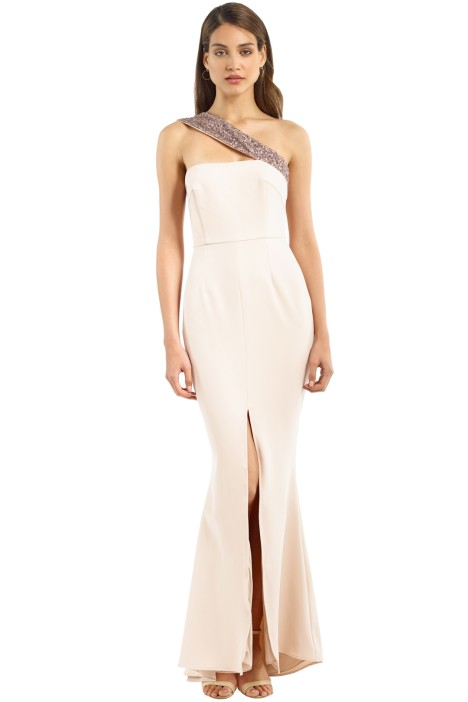 Unspoken - Stellar Long Dress - Nude - Front