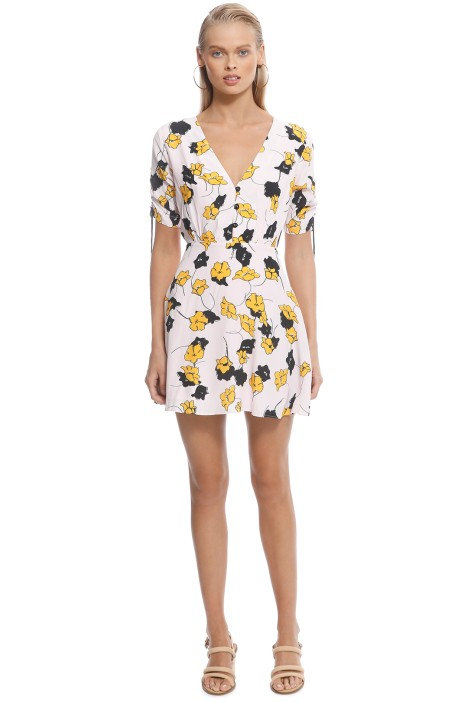 Vestire - Mira Mini Dress - Yellow Print - Front