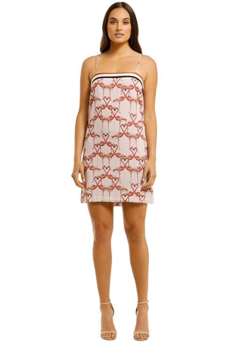 Vestire=Flamingo-Hearts-Mini-Dress-Print-Front