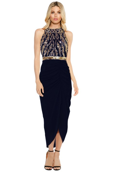 3c969afa509 Virgos Lounge - Genevieve Maxi Dress - Navy - Front