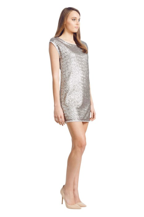 Wayne Cooper - Scoop Neck Dress - Side - Silver