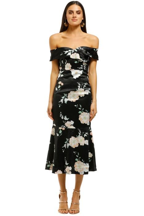 We-Are-Kindred-Clover-Off-Shoulder-Dress-Black-Camellia-Front