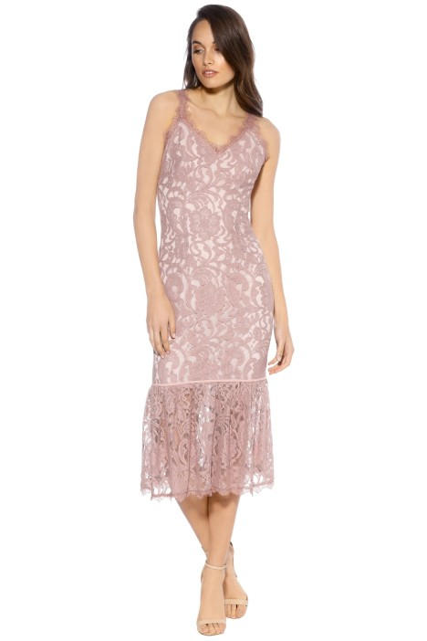 We Are Kindred - Charlotte Backless Dress - Musk - Dusty Pink - Front