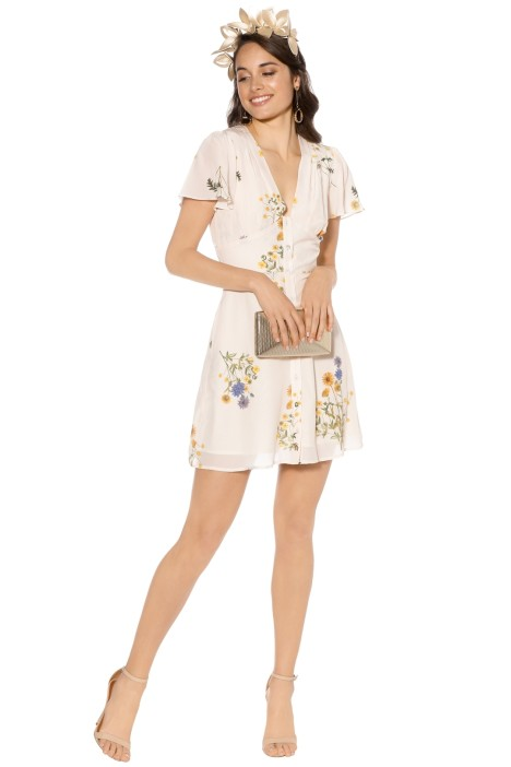 We Are Kindred - Country Field Mini Dress - Cream Floral - Front