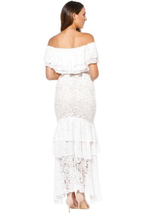b732f10e4e9d We Are Kindred - Gisella Lace Off Shoulder Dress - White - Back