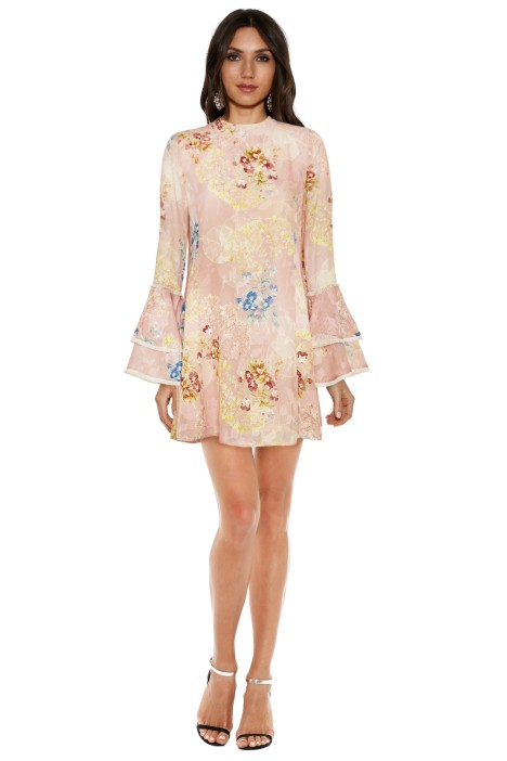 We Are Kindred - Hayley Frill Dress - Floral Pink - Front