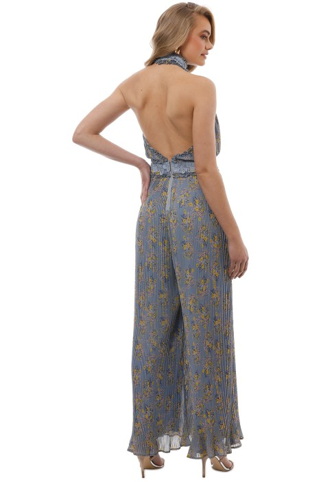 46ff8c75d72b We Are Kindred - Helena Pleated Jumpsuit - Blue Floral - Back