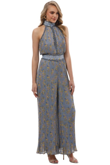 d0a1e4d9a471 We Are Kindred - Helena Pleated Jumpsuit - Blue Floral - Side