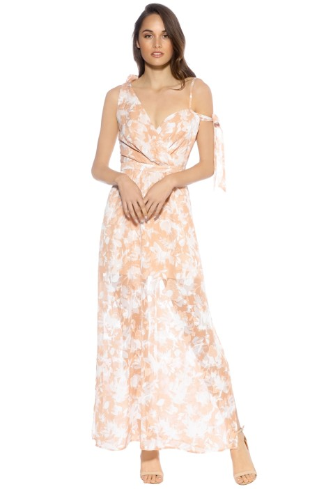 We Are Kindred - Jonquil Asymmetric Dress - Front - Orange Print