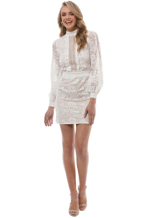 We Are Kindred - Madeliene Ladder Mini Dress - Ivory - Front