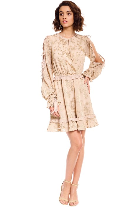 We Are Kindred - Matilda Split Sleeve Dress - Gold - Front