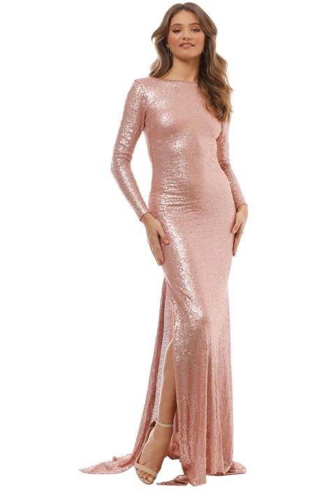 When Freddie Met Lilly - Anastasia Sequin LS Gown - Blush - Front
