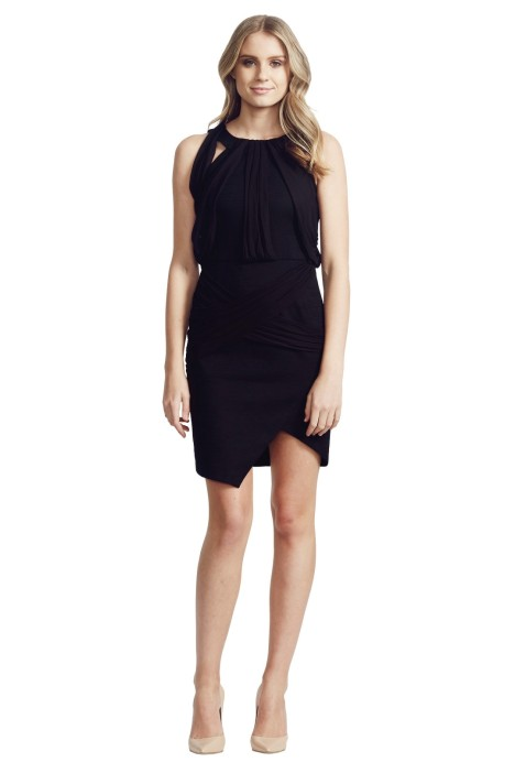White Suede - Under and Over Dress - Black - Front