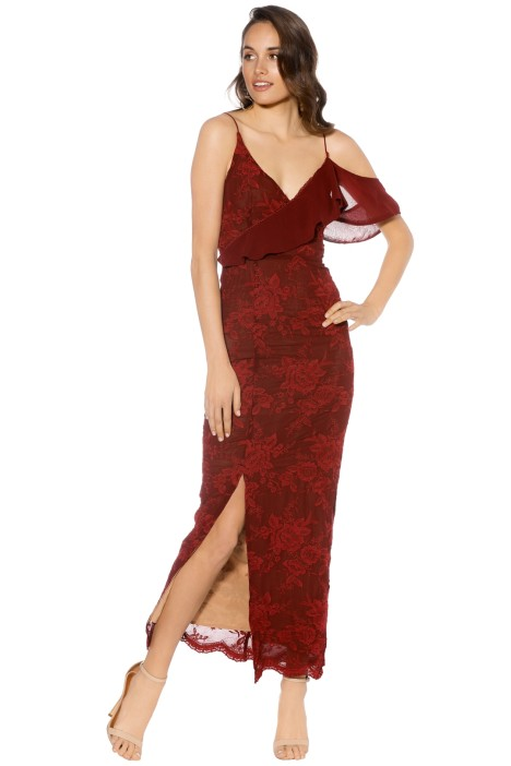 Winona - Amalfi Maxi Dress - Wine - Front