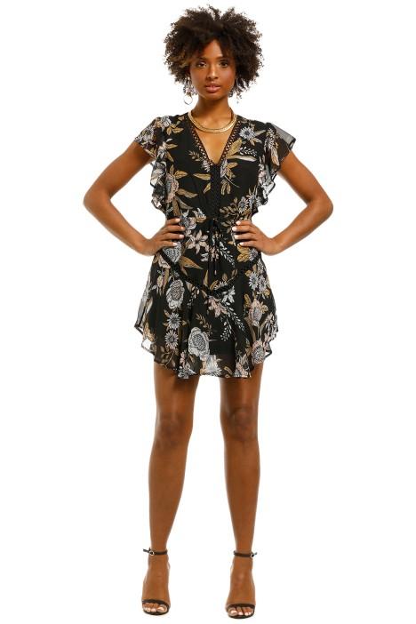 Wish-Flora-Ruffle-Dress-Black-Front