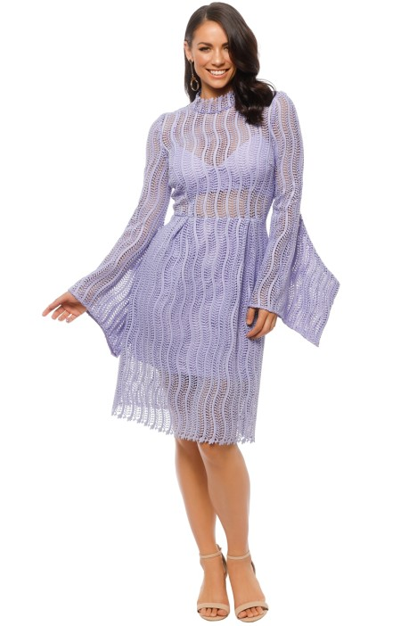Yeojin Bae - Applique Lace Caterina Dress - Lilac - Front