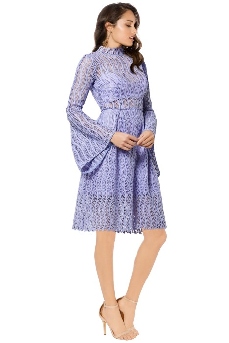 Yeojin Bae - Applique Lace Caterina Dress - Lilac - Side