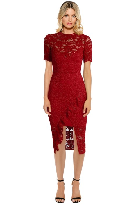 Yeojin Bae - Cornelli Lace Alyssa Dress - Red - Front