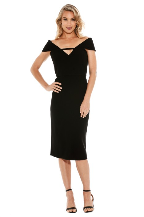 Yeojin Bae - Double Crepe Corrine Dress - Black - Front