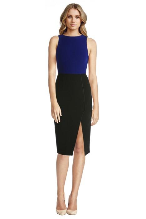 Yeojin Bae - Double Crepe Lisette Dress - Blue - Front