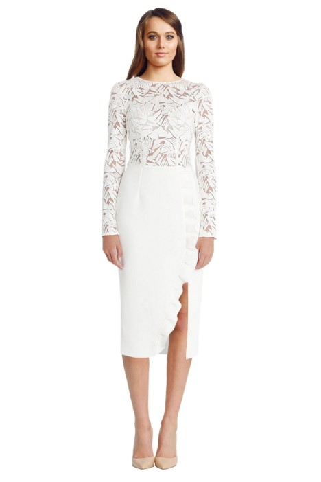 Yeojin Bae - Embroidered Tulle Arabella Dress - White - Front