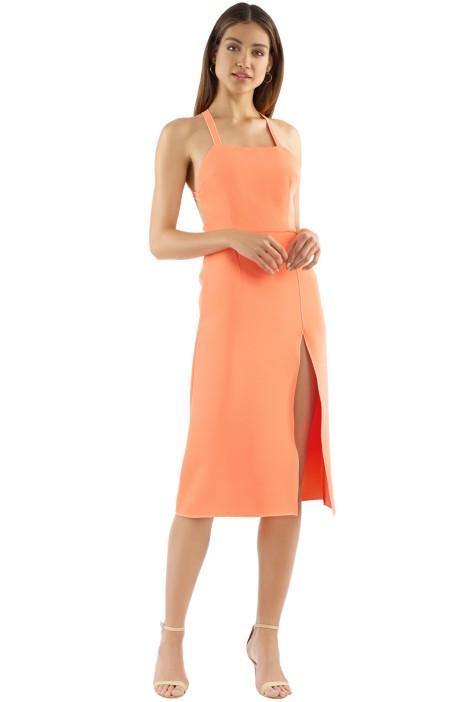 Yeojin Bae - Lilian Dress - Neon Orange - Front